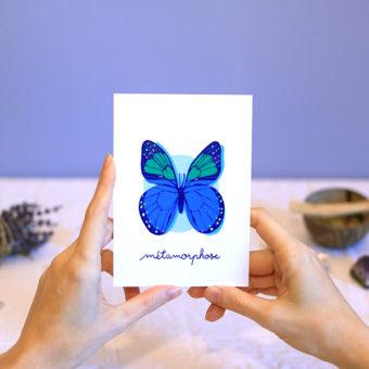 Green Mama Art - Série de cartes Animal Totem Insecte Papillon