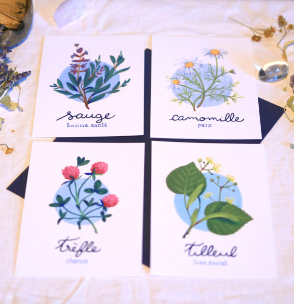 Green Mama Art - Série de cartes Plante Medicinale