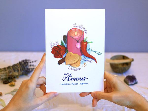 Green Mama Série de cartes Talisman porte-bonheur Amour