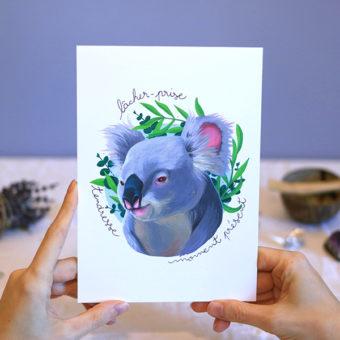 Green Mama Art - Série de cartes Animal Totem Koala