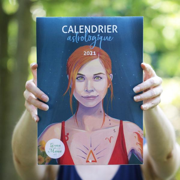 Calendrier astrologique 2021 illustré par Green Mama Art